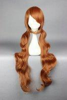 Yurikuma Arashi-Lulu Yurigasaki 90cm long Brown High Temerature Wire COOL beautiful anime curyly Cosplay Wig