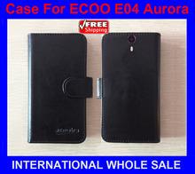 High Quality New Original phone case ECOO E04 Aurora Leather Case Flip Cover for ECOO E04 Aurora Case+tracking number