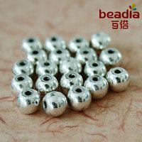 20pcs Tibetan Silver Round Bead Fashion Charm Spacer Metal Beads wholesale & Retail Fit Bracelet Jewelry Making ZN-971