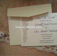 Laser cut rose flower RSVP card for Fagbemi Olutunu