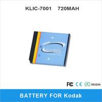 KLIC-7001 For Kodak M320 M340 M753 M763 M853 DIgital Camera Battery 720mAh