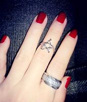 Strobe exclusive custom three-piece all-zirconium created diamond ring