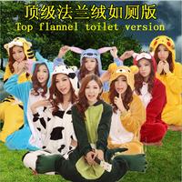 2015 Winter Adult Flannel Pajamas Onesies  Pajama Animal Cosplay Cute Pajamas for Couple Pajama Women Home Clothing 20 Style