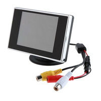 Free Shipping 3.5 inch Flat DVR Car Rear View Monitor for Reverse Backup Camera