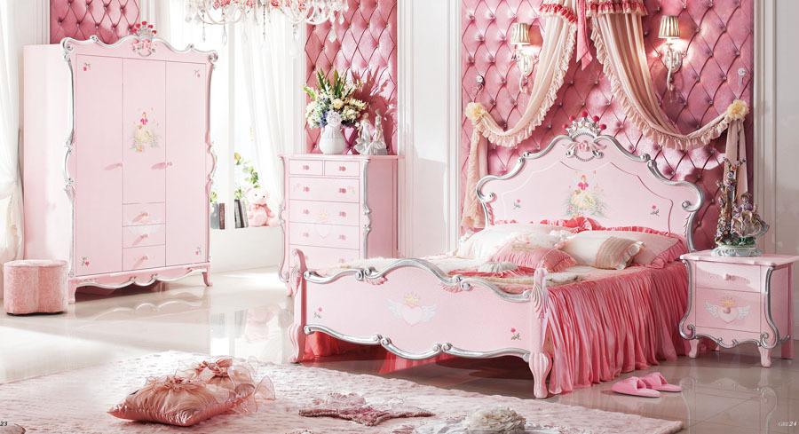 Quarto de Angie [2 andar] Estilo-barroco-quarto-Kid-madeira-decorativa-móveis-armário-cama-mesa-estante-9906