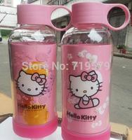 Freeshippin Hello Kitty Kettle Head Portable Leakage-Proof Children Kettles Student Water Bottle Cartoon Sports KT149