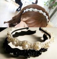 2015 New Arrival freeshipping wholesale fashion handmade beads pearl metal headband wedding hair accessories
