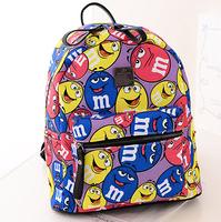 school bags for teenagers  An M&M backpack, blue, yellow doug design cartoon doug students bag