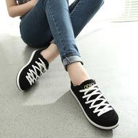 2015 New Women Sneakers Fashion Canvas Woman Shoes Tenis Lace Up Leisure Espadrilles Flats Sapatilhas Femininos Size35-40 WA4022
