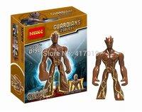 2pcs Decool 0198 Guardians of The Galaxy Groot Big tree man block figure Action Figures Minifigures Building Blocks toys