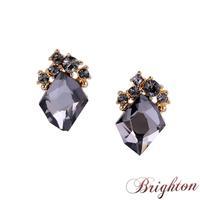 2015 New Luxury Elegant Jewelry Women Shiny Crystal Black\White Rhinestone Stud Earrings