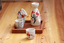 New 5PCS SET Japanese tea wine tools one pot four cups Japanese wine spirits ceramics of