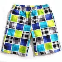 Men's Bermudas beach shorts plaid print quick dry 2015 new shorts mens hawaiian shorts surf board shorts shots masculino