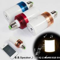 Led Bulb Lamp E27 110V-220V Brighten Light 2 in 1Portable Bluetooth Speaker For iphone 6 Plus Samsung Galaxy S5 Multi Color New