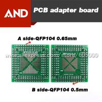 Free shipping 10pcs double sides PCB Adapter Board,QFP 0.5mm 0.65mm pitch,DIP 2.54mm,QFP / TQFP / LQFP