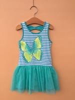 6PCS/LOT 2-6X baby girls dresses,butterfly printing