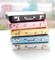 Free Shipping~1/6 Dollhouse Miniature NICE holder aluminium suitcase box mini suitcase 5 color box case BJD Doll Accessories
