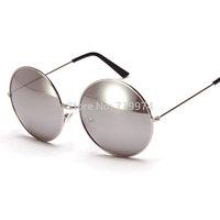 White mercury round Sunglasses women 2015 new hot Brand Designer Sun glass colors sunglasses for men & women free shipping  9970