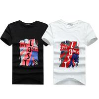 2015 HOT novelty o-neck short sleeve women /men t-shirts slim fashion print cotton tops & tees J1147