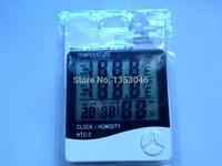 New HTC-2 Indoor/Outdoor LCD Digital Thermometer Hygrometer with Dual Sensors Multifunction Meter Large Hygrometer Alarm Clock