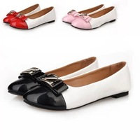 Fashion women shoes solid candy color patent PU shoes woman flats new 2015 sapatilhas femininos ballet princess shoes for casual