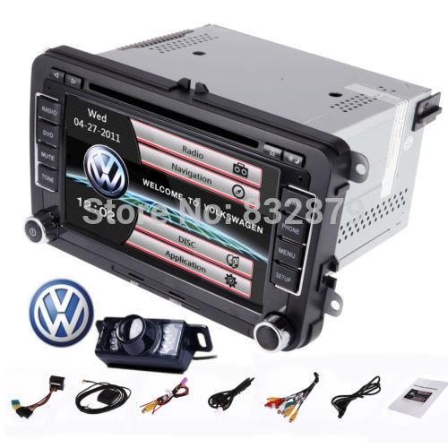 7 inch Car DVD Gps For Volkswagen VW Vento POLO Sedan JETTA TIGUAN TOURAN CADDY GOLF GPS Radio Audio Head Unit+Remote Control(China (Mainland))