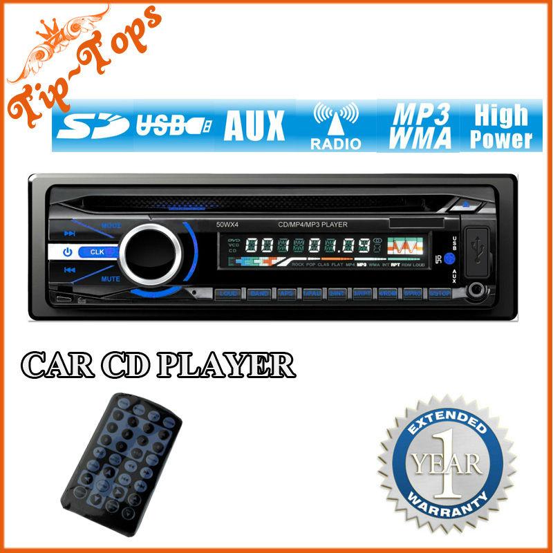 Tip-Tops One Din Universal Car CD Player Stereo Headunit Radio MP3 USB SD AUX FM 4x50W M-9528(China (Mainland))