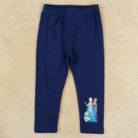 2015 New Design NOVA Cartoon Clothing Girls Elsa & Anna Leggings Baby Olaf Legging 100% Cotton Long pants Kids Printed Trousers