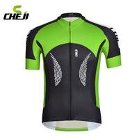 Mountain road bike ride outdoors in CHEJI Dioila green men stroke speed dry coat sportswear