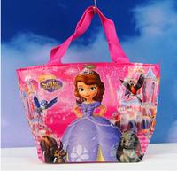 1PC Baby Girls Anime Hello Kitty WaterProof  Handbag Princess Sofia Mochila Beach/Swimming/Lunch Hand Bag Kids Birthday Bolsas