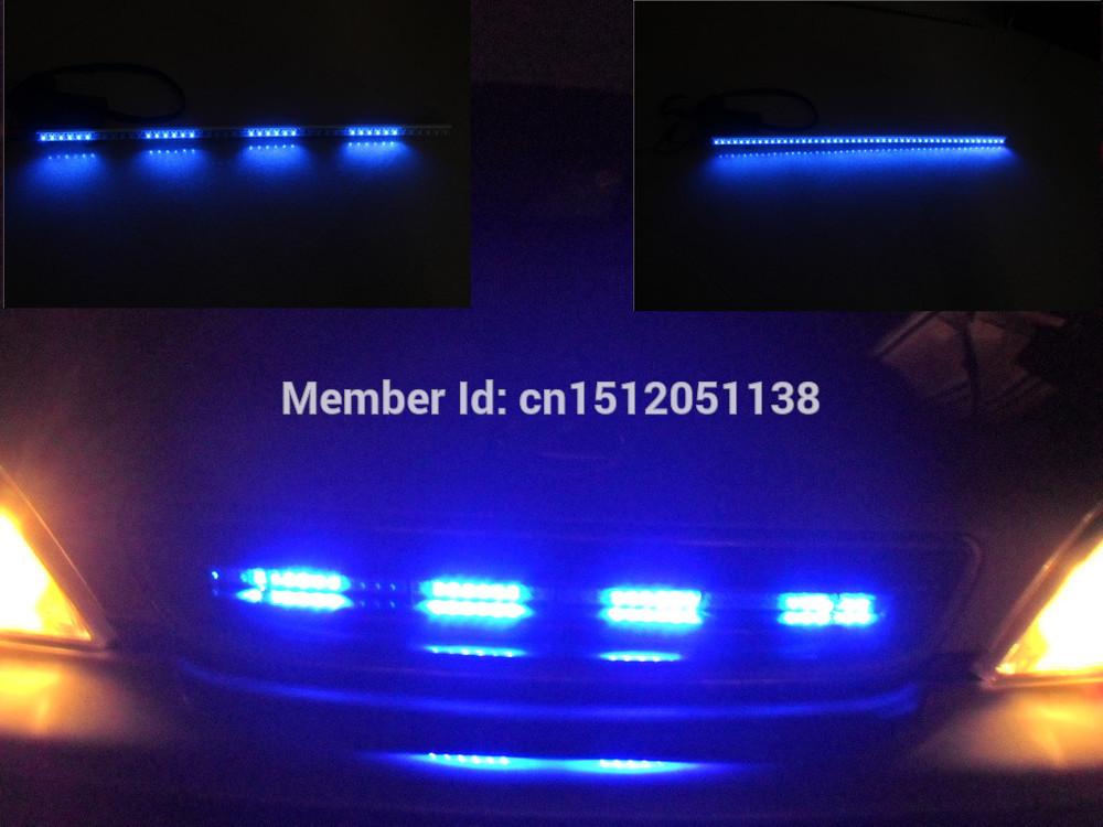 Blue 50cm 48LED Knight Rider Light Flash Lights LED Strips Scanner+Remote tiras de led knight rider blue light bar(China (Mainland))