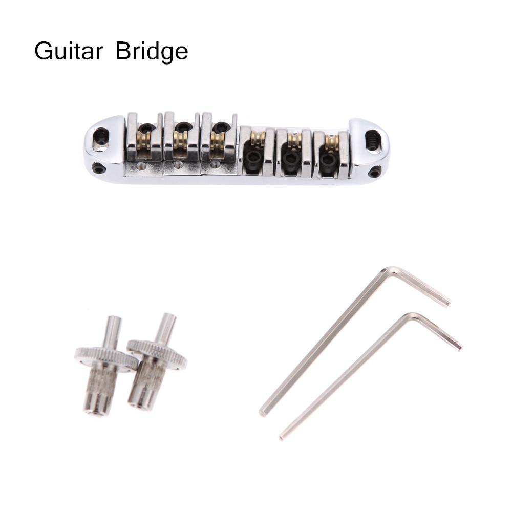 Professional Guitar Bridge Chromeplate Roller Zinc Alloy Metal Design Adjustable DIY Kit for Acoustic Guitar Wholesale Retail(China (Mainland))