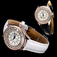 Luxury Fashion Hour Clocks Women Rhinestone Watches Women Dress Quartz Watch Leather Band wrist watch New 2015 relogio feminino