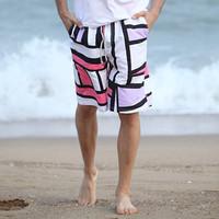 Men's Bermudas beach shorts geometric print quick dry 2015 new shorts beach fashion swimsuits surf board 5026
