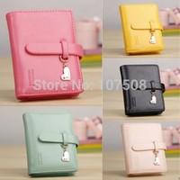 Fashion lady women lovely purse clutch wallet short small bag PU card holder