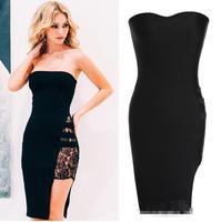 Women dress New 2015 Vestidos Femininos Summer Dresses Asymmetry Patchwork lace dress Vestido De Festa Plus Size Party Dresses