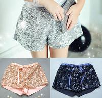 [Sashine kids]2015 summer children girls beach shorts pants foreign trade paillette shining hot pants for kids girl clothing