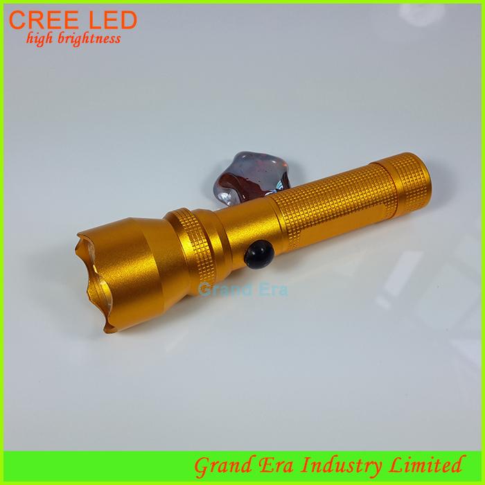 gold led long range flashlight torch long distance japanese mini torch pocket high beam economic torch light lamp H010(China (Mainland))