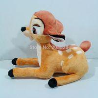 (6pcs/lot) 13.78Inch Cute Bambi Deer Plush Toy Stuffed Animal Doll Kids Birthday Gift