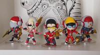 "5Pcs/set Q Version 4""10cm LOL Jax leesin Zed Zyra Vayne PVC Dolls Action Figure Toys With Box Free Shipping"