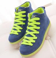 2015 New Women Sneakers Size 35-40 Winter Shoes Women Causal Canvas Shoes Multi-colors Sport Walking Flats Blue Green WA4023