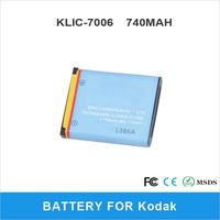 Rechargeable 710mAh KLIC-7006 For Kodak M550 M750 M873  M883 Digital Camera