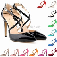 Plus Size Pumps EU35-EU42 Women Shoes Pointed Toe High Heels  Woman PU  Sapatos Femininos Ladies Wedding Shoe Dropship HS0028