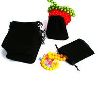 Free Shipping 50Pcs 7x9cm Velvet Drawstring Pouch Bag/Jewelry Bag,Christmas/Wedding Gift Bag PS-PDA01-01BK