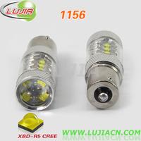 Free shipping 2pcs/lot High Power 80W 1156 16pcs*5w CREE XBD LED Car Signal Tail Turn Backup Reverse Light Bulb P21W BA15S LED