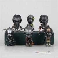 Free shipping Predator vs Aliens AVP2/AVPR N-E-C-A Q version 6pcs/lot Berserker movie action figures car decorations boy gifts