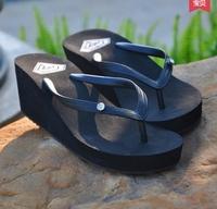 2015 Size 35-39 Women's Fashion Rhinestone Flip Flops Wedges Slippers Student Trifle Beach Slippers 2094