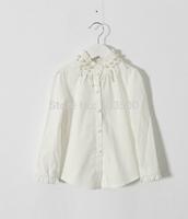 2015 Baby Girls Korea White Beading T-shirt  Princess Elegant Fashion Blouse 5 pieces/lot, Wholesale