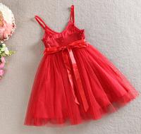 [Sashine kids]2015 summer new shining bowknot yarn children kids dresses for baby girls snow princess costumes dress retails