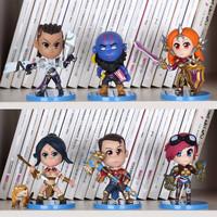 "6Pcs/set Free Shipping 4""10cm LOL Leona Ryze Nidalee Jayce Lucian Vi PVC Dolls Action Figure Toys With Box"